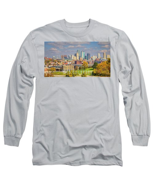 Autumn In Kansas City With Logo Long Sleeve T-Shirt