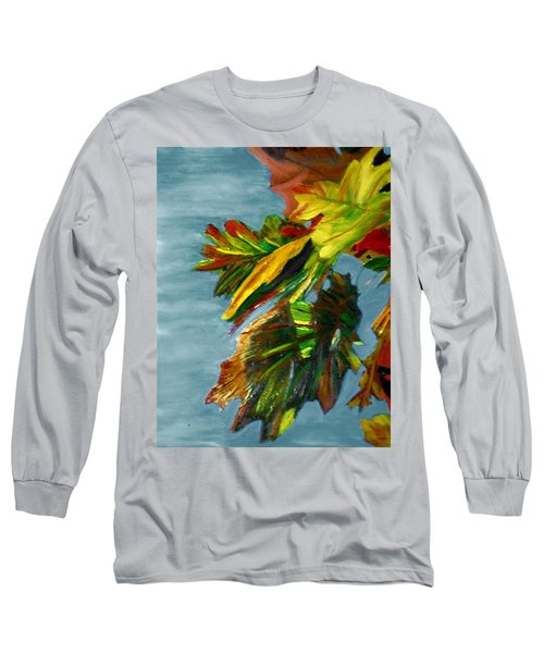 Long Sleeve T-Shirt featuring the painting Autumn Leaves by Michael Daniels