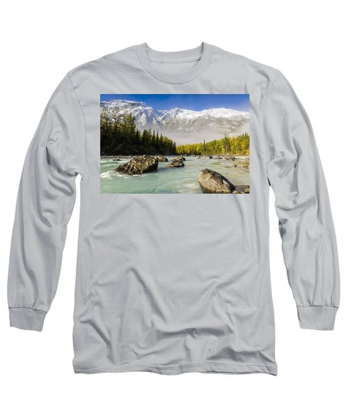Autumns Colors Contrast With Winters Long Sleeve T-Shirt by Ray Bulson