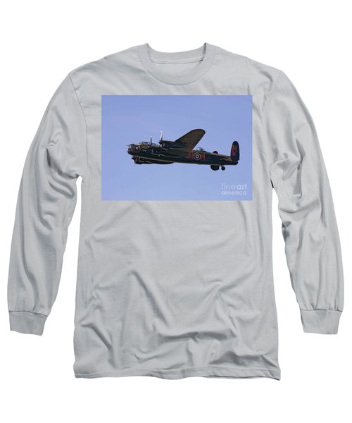 Avro 638 Lancaster At The Royal International Air Tattoo Long Sleeve T-Shirt by Paul Fearn