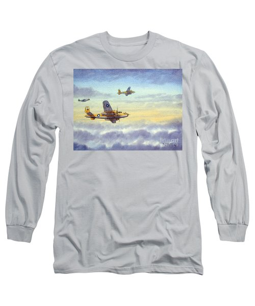 B-25 Mitchell Long Sleeve T-Shirt by Bill Holkham