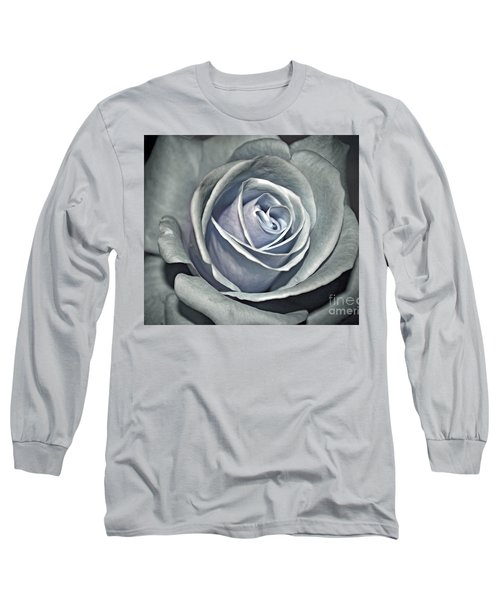 Long Sleeve T-Shirt featuring the photograph Baby Blue Rose by Savannah Gibbs