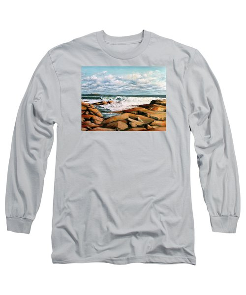 Back Shore Gloucester Long Sleeve T-Shirt by Eileen Patten Oliver
