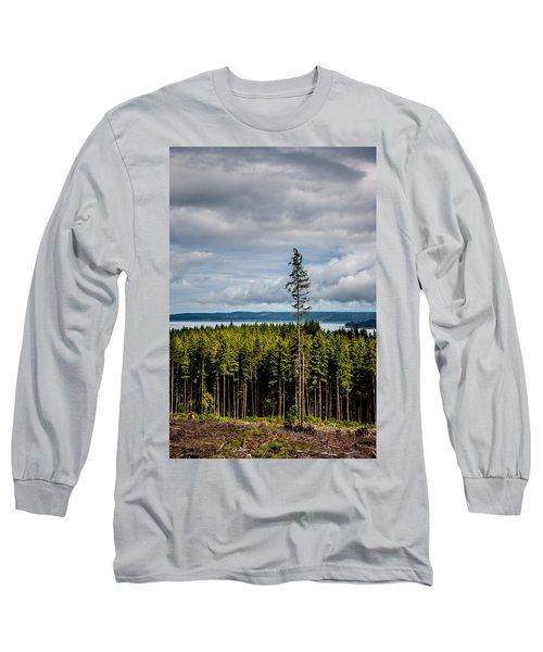 Logging Road Ocean View  Long Sleeve T-Shirt