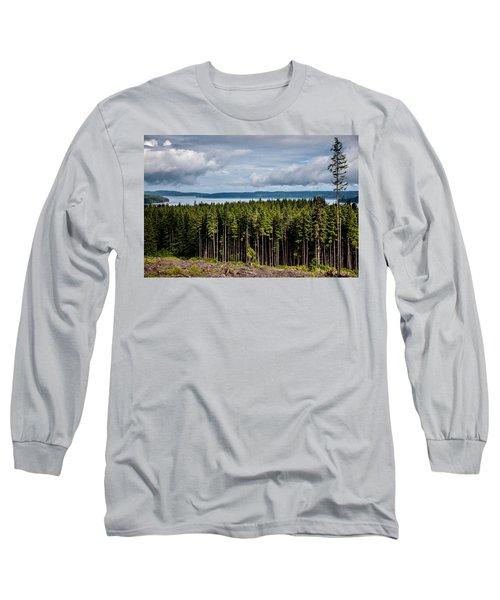 Logging Road Landscape Long Sleeve T-Shirt