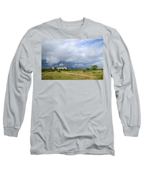 Long Sleeve T-Shirt featuring the photograph Bad Weather Is Coming Up At  A Medieval Castle Ruin by Kennerth and Birgitta Kullman
