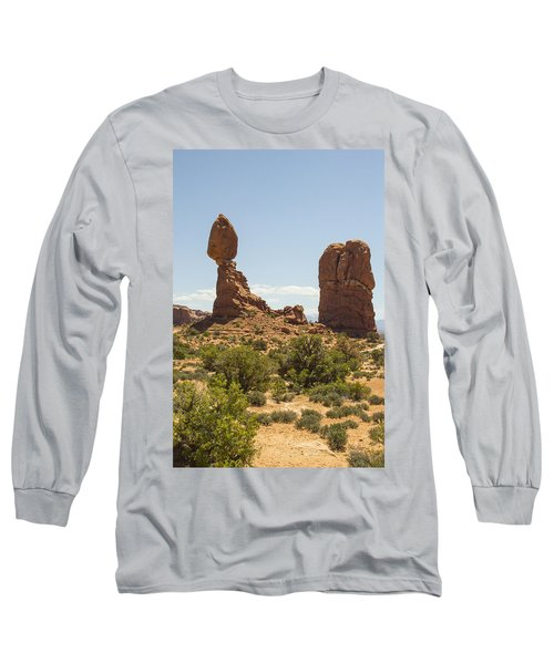 Balancing Rock In Arches Long Sleeve T-Shirt