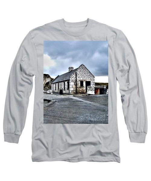 Ballintoy Stone House Long Sleeve T-Shirt by Nina Ficur Feenan