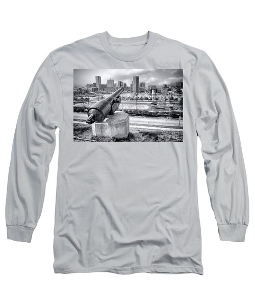 Baltimore Inner Harbor Skyline Long Sleeve T-Shirt