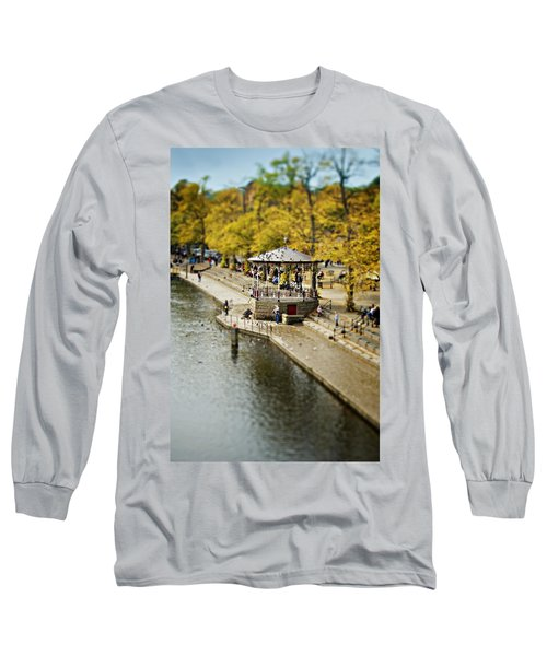 Bandstand In Chester Long Sleeve T-Shirt by Meirion Matthias