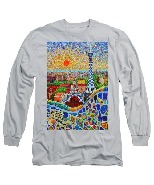 Barcelona Sunrise - Guell Park - Gaudi Tower Long Sleeve T-Shirt