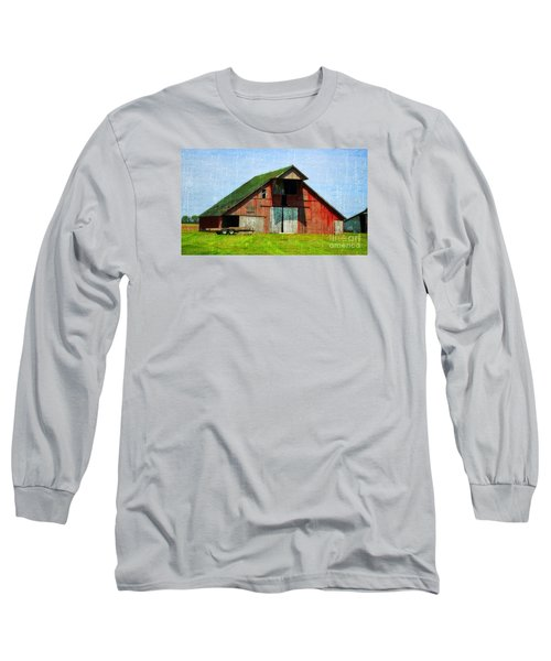 Barn - Central Illinois - Luther Fine Art Long Sleeve T-Shirt by Luther Fine Art