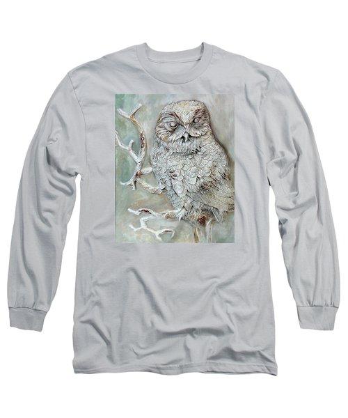 Barn Owl Long Sleeve T-Shirt by Enzie Shahmiri