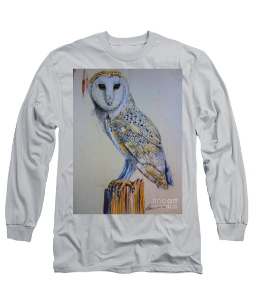 Barn Owl Long Sleeve T-Shirt by Laurianna Taylor