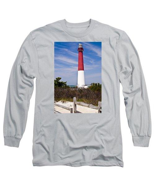 Barnegat Lighthouse Long Sleeve T-Shirt by Anthony Sacco