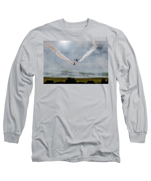 Long Sleeve T-Shirt featuring the photograph Barnstormer Late Afternoon Smoking Session by Chris Lord