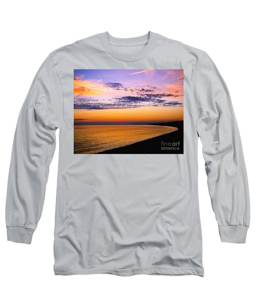 Bay Sunset Long Sleeve T-Shirt by Lana Enderle