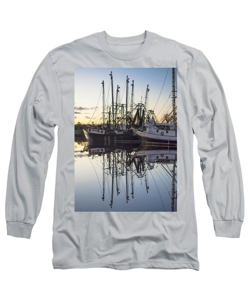 Bayou La Batre' Al Shrimp Boat Reflections 43 Long Sleeve T-Shirt