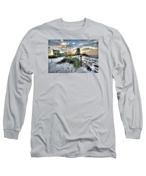 Beach And Buildings Long Sleeve T-Shirt