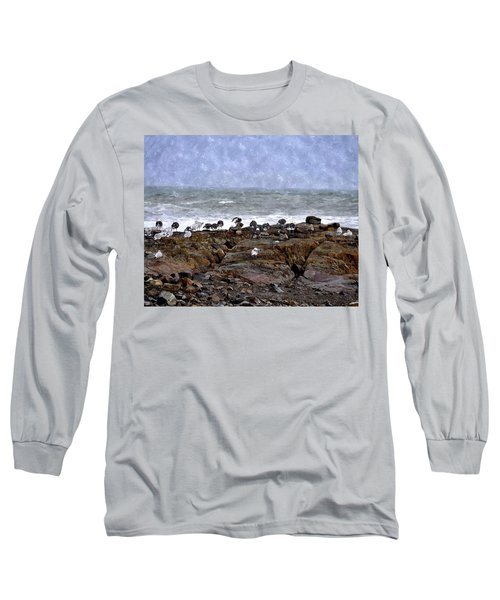 Beach Goers Bgwc Long Sleeve T-Shirt by Jim Brage