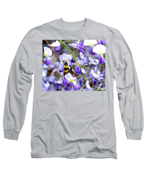 Bee In The Wisteria Long Sleeve T-Shirt