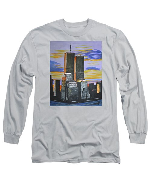 Long Sleeve T-Shirt featuring the painting Before The Fall by Donna Blossom