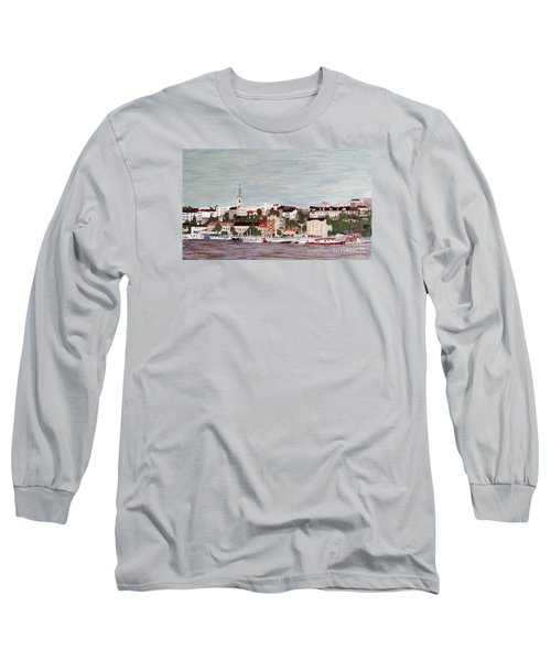 Long Sleeve T-Shirt featuring the painting Belgrade Serbia by Jasna Gopic