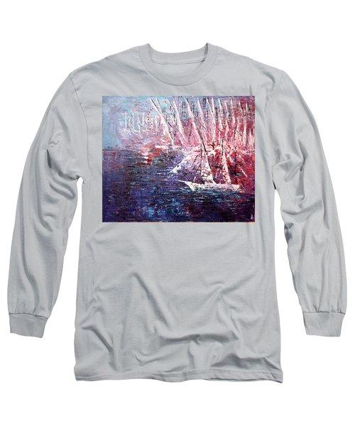 Belmont Turn  Long Sleeve T-Shirt by George Riney