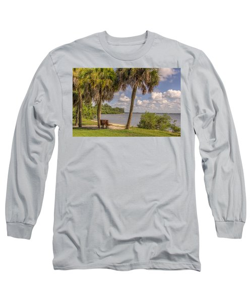 Long Sleeve T-Shirt featuring the photograph Beside The Shore by Jane Luxton