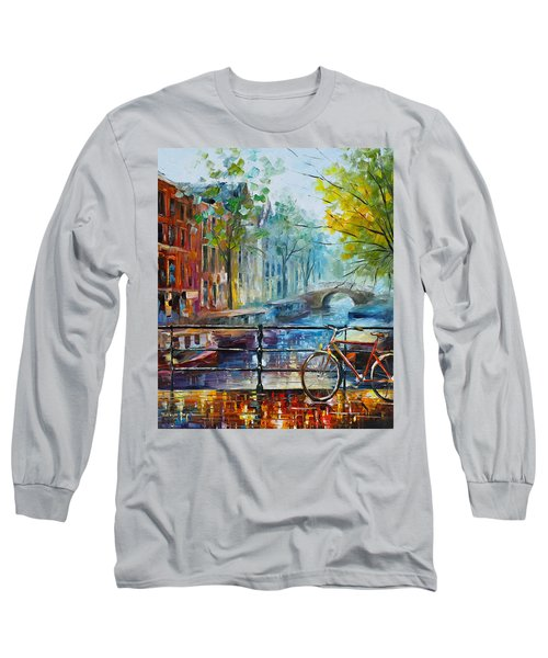 Bicycle In Amsterdam Long Sleeve T-Shirt