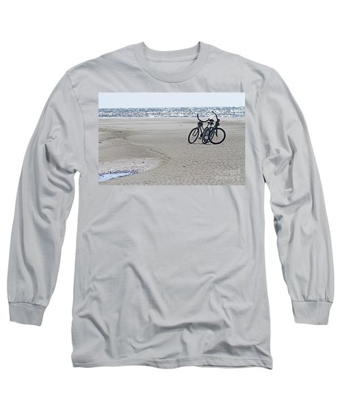 Bicycles On The Beach Long Sleeve T-Shirt