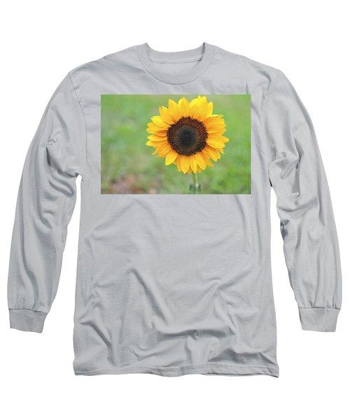 Big Bright Yellow Colorful Sunflower Art Print Long Sleeve T-Shirt