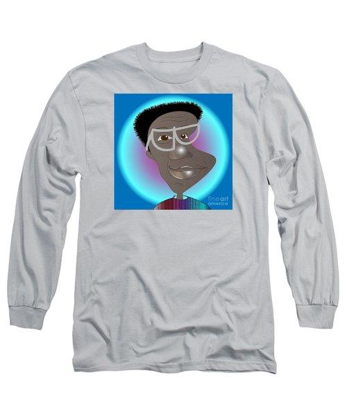 Bill Cosby Long Sleeve T-Shirt by Iris Gelbart