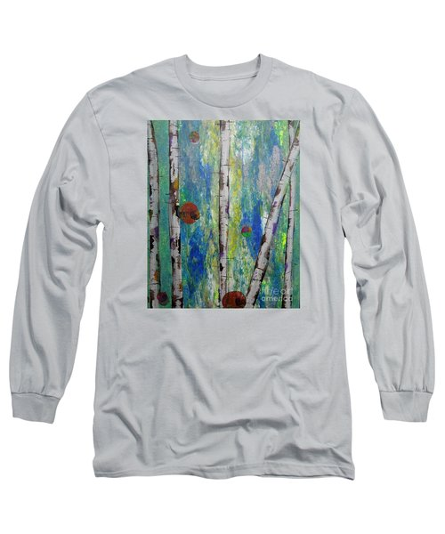 Birch - Lt. Green 4 Long Sleeve T-Shirt by Jacqueline Athmann