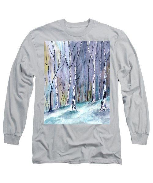 Birches In The Forest Long Sleeve T-Shirt