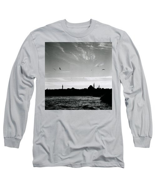 Birds Over The Golden Horn Long Sleeve T-Shirt