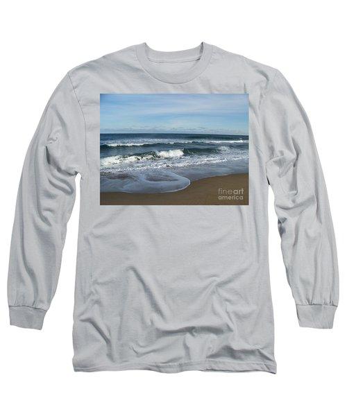 Long Sleeve T-Shirt featuring the photograph Winter Beach  by Eunice Miller