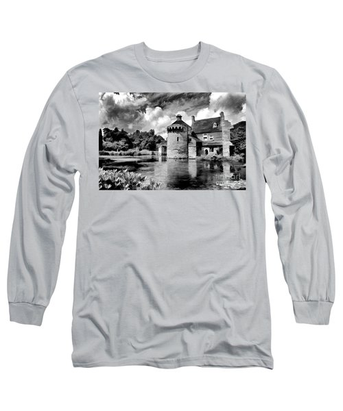 Scotney Castle In Mono Long Sleeve T-Shirt