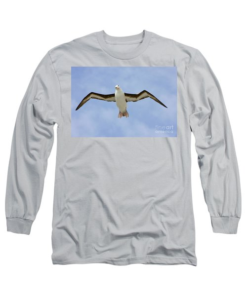 Black-browed Albatross Flying Long Sleeve T-Shirt