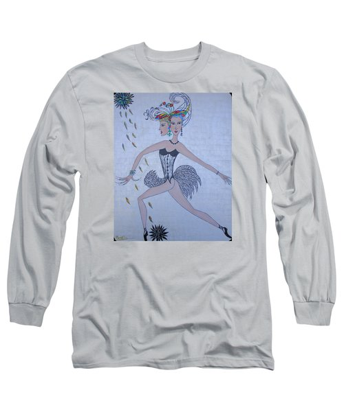 Long Sleeve T-Shirt featuring the painting Black Dahlia by Marie Schwarzer