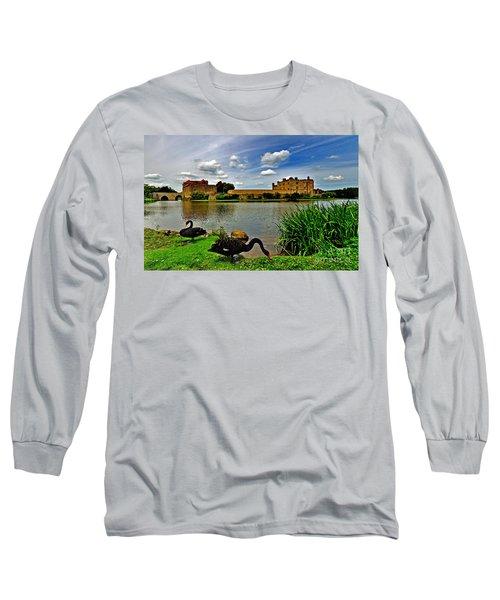 Black Swans At Leeds Castle II Long Sleeve T-Shirt