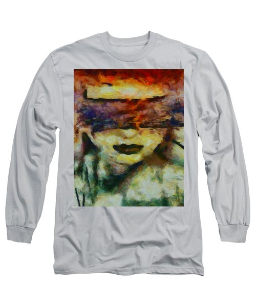 Long Sleeve T-Shirt featuring the digital art Blinded By Sorrow by Joe Misrasi