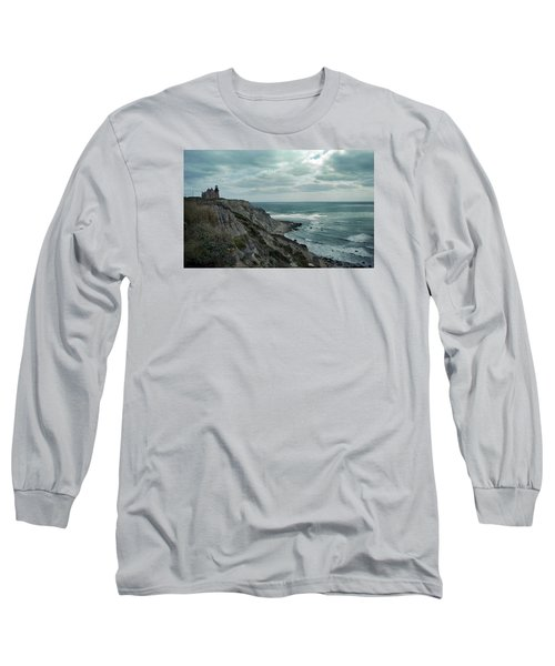 Block Island South East Lighthouse Long Sleeve T-Shirt by Skip Willits