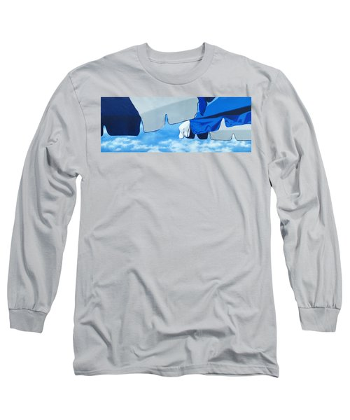 Blue Beach Umbrellas 2 Long Sleeve T-Shirt