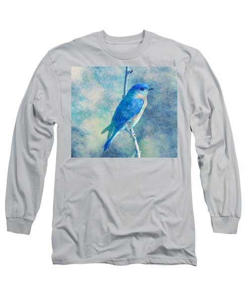Blue Bird Blue Sky Long Sleeve T-Shirt