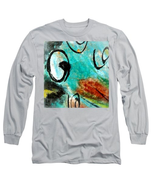 Long Sleeve T-Shirt featuring the painting Blue Dream by Joan Reese