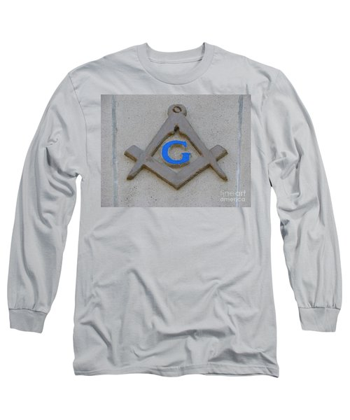 Blue G Long Sleeve T-Shirt by Michael Krek