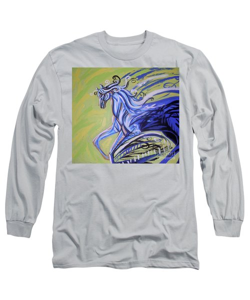 Blue Horse Long Sleeve T-Shirt