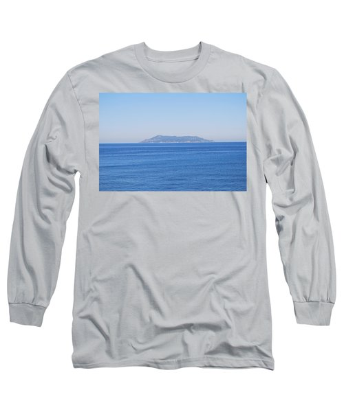 Long Sleeve T-Shirt featuring the photograph Blue Ionian Sea by George Katechis