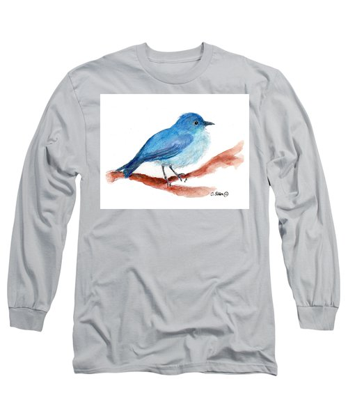Long Sleeve T-Shirt featuring the painting Bluebird by C Sitton
